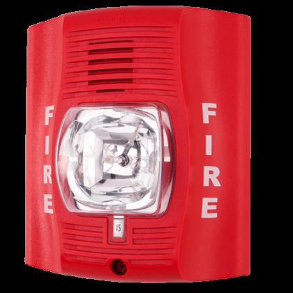 System Sensor Horn Strobe P2R red fire alarm miami